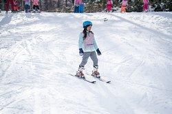 Children's ski lesson