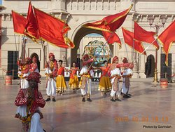 Dance in front of Bollywood Park