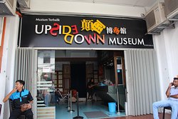 Entrance of upside down museum