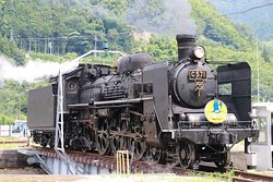 Tsuwano Station Railway Turntable