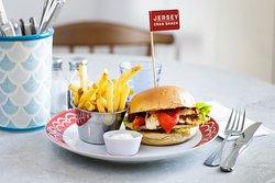 Burgers at Jersey Crab Shack Gorey