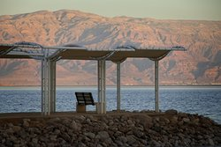 View of Dead Sea and Mountains in Jordan