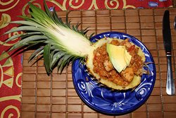 Pine apple with chicken.