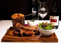 Red Beech Smoked BBQ Ribs.  Succulent ribs served with fries and a side salad  Be prepared to get messy