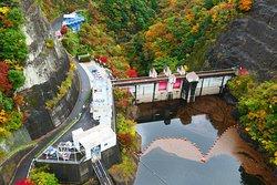 竜神ダム。なんか西洋のお城みたいです。