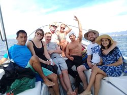 After a successful dive day at Los Arcos and Punto Mismaloya.