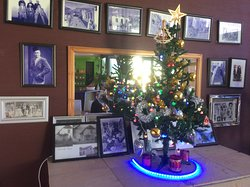 Family memories. Christmas tree. Nice touch for their Christian clientele.
