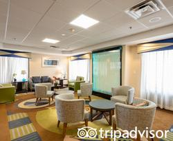 Lobby at the Holiday Inn Express Boston