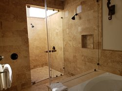 The outdoor bathroom shower