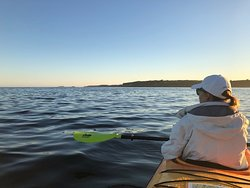 Pemaquid river near sunset