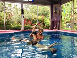 Great stretches during a Aqua-Body-works session!