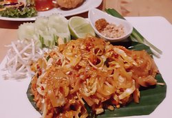 Pad Thai Chaiya with chicken, pork or prawn (ผัดไทยไชยา) our recommend menu and signature.