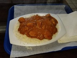 Chicken korma, very nice, large serving.
