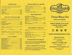 Mama Margie's menu
