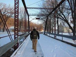 Crossing the bridge into Historic Forestville