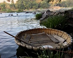 Coracle ride is a must at this resort