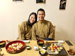 Sushi eating time!