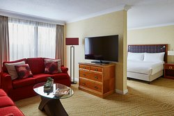 Our Junior Suites our ideal for families or for a longer stay, complete with King Bed, two sofa beds and a mini kitchenette.