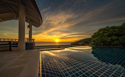 Sunset from Deluxe One Bedroom Pool Villa Exterior