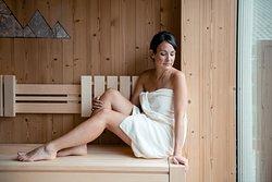 Dolomites sauna