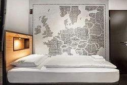 Barrierefreies Mehrbettzimmer mit 5 Betten im H.ostel Münster