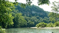 Camp Tomahawk Two-Mile Tube Float, James River near Galena, MO