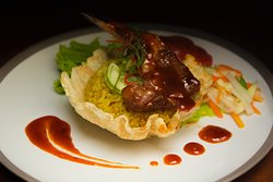 Now this is one of our Chef Recommendation. It's called Nasi Goreng Lamb Chop. We definitely recommend you to try it.