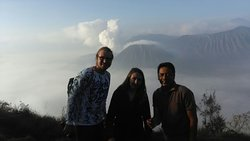 Sunrise view point at King-kong hill, Mt. Bromo National park