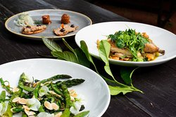 Wood roasted greens and others