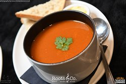 Roots & Co Chef's Super Soup of the Day (vegan) | With rustic bread 20 Post Office Road 01202 558399