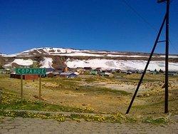 Entrada al pueblo de Copahue