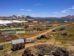 Vista desde arriba de uno de los cerros en Copahue