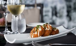You can't go wrong with crab cakes!