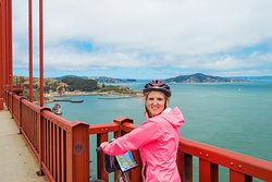 Biking across the Golden Gate Bridge