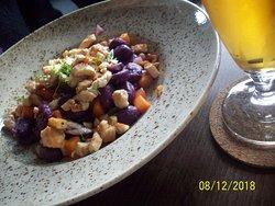 Turkey with purple potato gnocchi