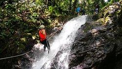 ¡Explorar Turrialba es toda una aventura!  Durante el tour de canyoning podrá caminar por los senderos del bosque, descender 5 cataratas y disfrutar de un tobogán natural de agua 🍃