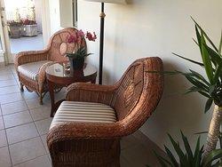 Wonderful seating area in private atrium