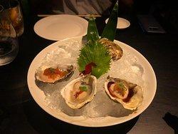 Ostras com 3 molhos Nobu - Delicioso e refrescante, uma boa pedida