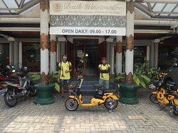 we visit local batik production, after the tour you even can make your own batik napkin.