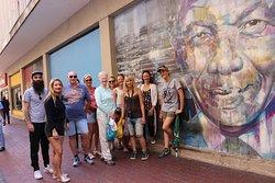 Unique wall art - Tata Madiba keeping an eye on us
