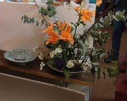 J'ai bien aimé ce vase pour y mettre des fleurs coupées