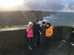 The Kelly Family at Cliffs of Moher