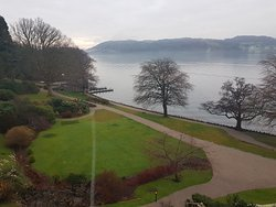 View of Lake Windermere from room.