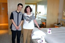 Our master housekeeper and towel sculptor Lishen Wei