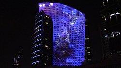 lussuoso centro commerciale e scenografico spettacolo di luci
