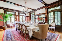 Dining area can accommodate private functions.
