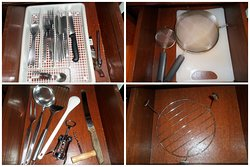 Adequate kitchen equipment in E3 chalet/villa
