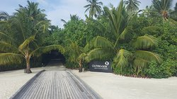 Walkway from the arrival jetty