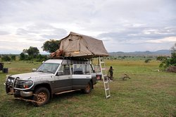 Bush camping in a National park is one of the activities you can do. Picture is taken in Kidepo Valley NP