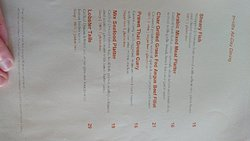 In villa dining and experiences prices.